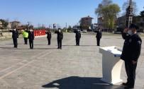 Alaçam'da Sosyal Mesafeli Polis Haftası