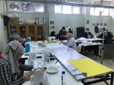 İncesu Halk Eğitim Müdürlüğünde Maske Üretimi Devam Ediyor