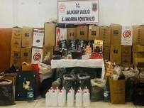 Susurluk'ta 231 Litre Kaçak Alkol Ve 360 Kilo Tütün Ele Geçirildi
