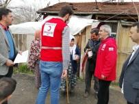 HEKİMHAN - Kızılay, Yardımları Yaşlılara Ulaştırıyor
