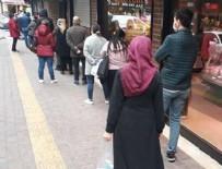 BAHÇELİEVLER - Alışveriş kuyruğu sokağa taştı!