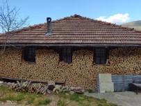 Evinin Duvarlarını Odunla Çevirdi