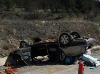Kastamonu'da Menfeze Çarpan Otomobil Takla Attı Açıklaması 1 Ölü, 1 Yaralı