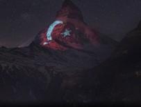 POLONYA - Türk bayrağı İsviçre'nin ünlü dağına yansıtıldı