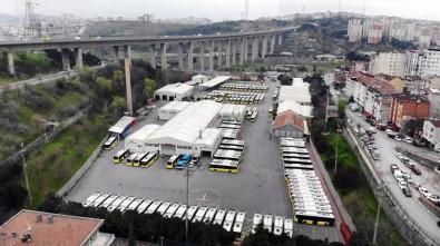 İşte İETT Garajlarındaki Seferlerden Çekilen Otobüsler