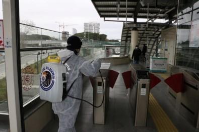 Marmaray İstasyonları Dezenfekte Edildi