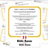 BASIN MENSUPLARI - Bitlis Basınından 'Evde Kal' Çağrısı