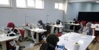 HALK EĞİTİM MERKEZİ - Orhaneli Halk Eğitim Merkezi Öğreticiler Gönüllü Maske Üretiyor