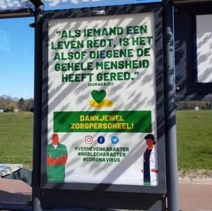 Hollanda'da Sağlık Çalışanlarına Kur'an-I Kerim'den Ayetle Teşekkür