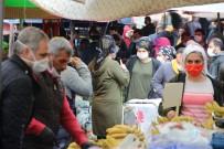 SERDAR KAYA - İzmir'de Pazaryerinde Sosyal Mesafe Kuralına Uyulmadı