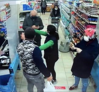 Maskesiz Alışveriş Yapmak İsteyen Kişi Vatandaşlarla Tartıştı