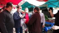 JANDARMA KOMUTANI - Pazarcı Esnafına Maske Ve Eldiven Dağıtıldı
