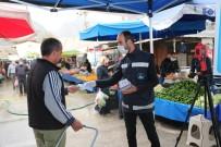 BAĞBAŞı - Pamukkale Belediyesi Pazar Yerlerinde Maske Dağıtımına Başladı