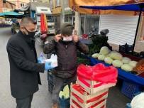 PAZARCI - Pazar Yerinde Maske Dağıtılıp Bilgilendirme Yapıldı
