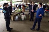 PAZARCI ESNAFI - Başkan Tütüncü'den Pazarlarda Virüs Tedbirleri Denetimi
