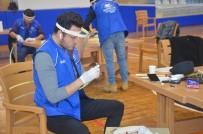 GENÇLİK MERKEZİ - Gençlik Liderleri De Siperlik Maske Üretimine Başladı
