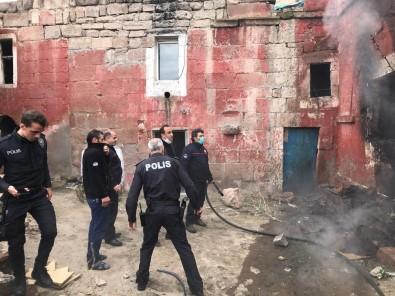 İncesu'da Metruk Binada Yangın Çıktı
