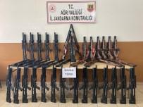 Ağrı'da Piyasa Değeri 200 Bin TL Olan Elli Adet Havalı Av Tüfeği Ele Geçirildi