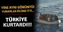 SIĞINMACI - Çanakkale'de Yunan sahil güvenliğinin Türk kara sularına ittiği sığınmacılar kurtarıldı