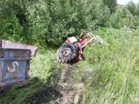 Mazıdağı'nda Traktör Ve Kamyon Dereye Uçtu