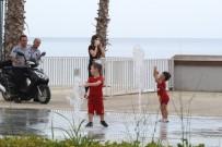 BİSİKLET - Çocuklar sahile akın etti!
