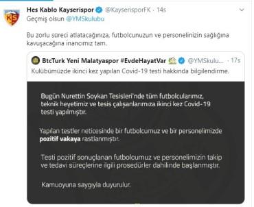 Kayserispor'dan Malatyaspor'a Geçmiş Olsun Mesajı