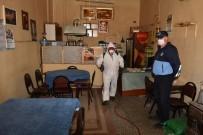 İnönü'de Kahvehaneler Dezenfekte Edildi