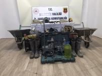 Manyas'ta Kaçak Kazı Yapan 3 Kişi Yakalandı