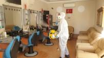 Kaynaşlı'da Kuaför Salonları Ve Berberler Dezenfekte Edildi