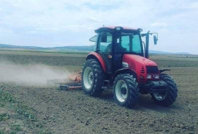 Altıntaş İlçesinde Çiftçiler Pancar Ekimini Yeniden Yaptı