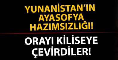 'Ayasofya' üzerinden Türkiye'ye saldıran Yunanistan Gazi Evrenos Bey İmaretini kiliseye çevirdi