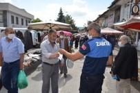 Bünyan'da Zabıta Hem Uyardı Hem Maske Dağıttı