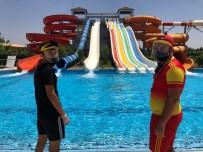 Mardin'de Korona Virüs Tedbirleri Altında Havuz Keyfi