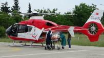 Koyunlarına Saldıran Kurtlara Ateş Edince Kazar Kendini Vuran Çoban Helikopterle Hastaneye Kaldırıldı
