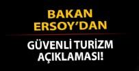 KÜLTÜR VE TURİZM BAKANI - Kültür ve Turizm Bakanı Ersoy'dan 'Güvenli Turizm Sertifikasyon Programı' açıklaması