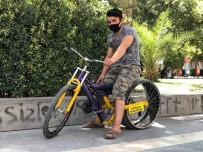 Otomobil Lastiğini Bisikletine Taktı, Görenler Gözlerine İnanamadı