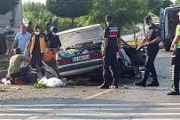 Konya'da Refüje Çarpan Otomobil Takla Attı Açıklaması 3 Ölü, 2 Yaralı