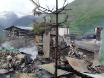 Artvin'in Yusufeli İlçesi Yaylalar Köyündeki Yangının Boyutu Gün Ağarınca Ortaya Çıktı