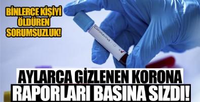 Aylarca gizlenen koronavirüs raporu basına sızdı!