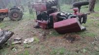 Kastamonu'da Ormanlık Alanda Traktör Devrildi Açıklaması 1 Ölü