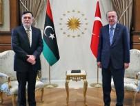 LİBYA BAŞBAKANI - Cumhurbaşkanı Erdoğan ve Serrac'dan Doğu Akdeniz mesajı