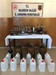 Susurluk'ta 182 Litre Kaçak İçki Ele Geçirildi