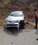 Lastiği Patlayan Araç Şarampole Yuvarlandı Açıklaması 1 Yaralı