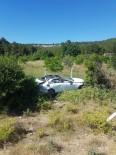 Ayvacık'ta Trafik Kazası Açıklaması 1 Yaralı