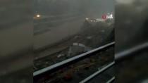 ŞİDDETLİ YAĞIŞ - Yusufeli Barajı şantiyesinde sel ve heyelan böyle görüntülendi