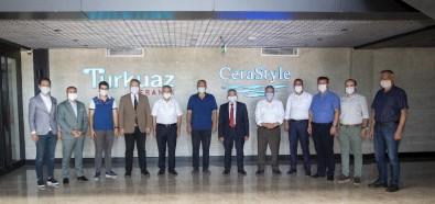 Başkan Büyükkılıç Turkuaz Seramik Fabrikası'nı Gezdi