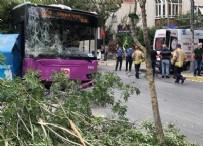 HALK OTOBÜSÜ - Halk otobüsü kaza yaptı!