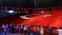 Milli Birlik Günü İçin Açılan Dev Türk Bayrağı Havadan Görüntülendi