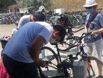 BİSİKLET - Ankaralılar bisikletle Eymir Gölü'nün tadını çıkarıyor