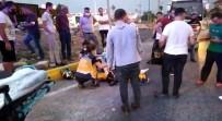 Otomobil Motosikletliye Çarptı Açıklaması 1 Yaralı
